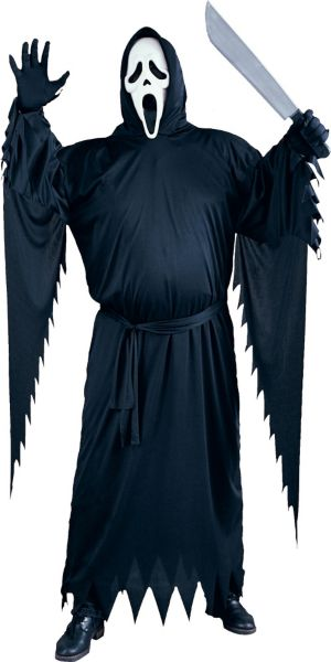 Adult Ghost Face Costume Plus Size - Scream