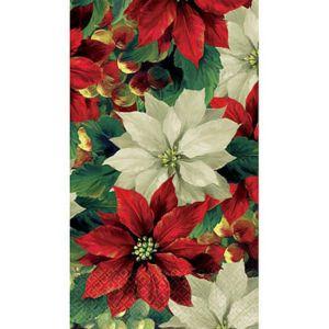 Regal Poinsettia Guest Towels 16ct
