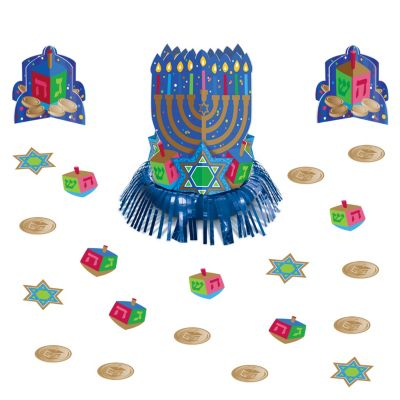 Hanukkah Table Decorating Kit 15pc