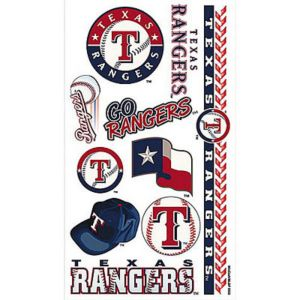 Texas rangers tattoos 10ct party city for Texas tattoo license