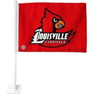 Louisville Cardinals Car Flag
