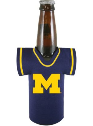 Michigan Wolverines Jersey Bottle Coozie