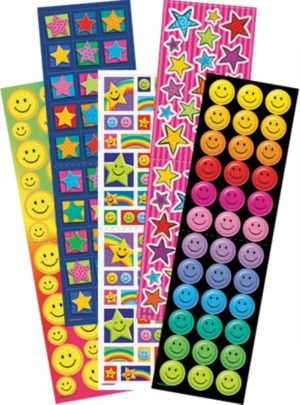 Stars and Smiles Stickers Value Pack 5 Sheets