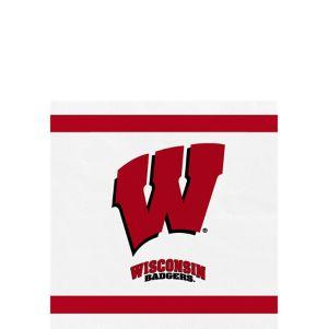 Wisconsin Badgers Beverage Napkins 24ct