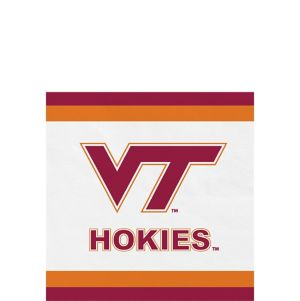 Virginia Tech Hokies Beverage Napkins 24ct