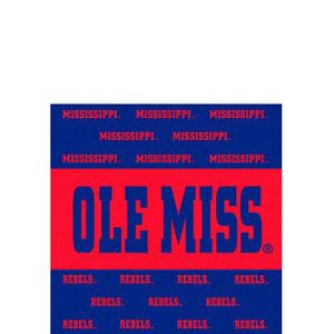 Ole Miss Rebels Beverage Napkins 16ct