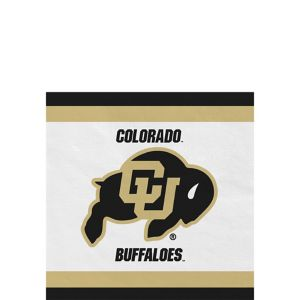 Colorado Buffaloes Beverage Napkins 24ct