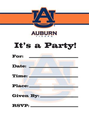 Auburn Tigers Invitations 8ct