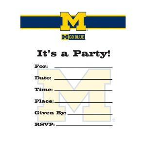 Michigan Wolverines Invitations 8ct