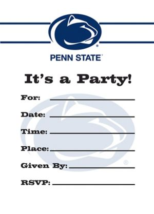 Penn State Nittany Lions Invitations 8ct