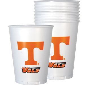 Tennessee Volunteers Plastic Cups 8ct