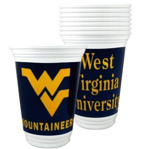 West Virginia Mountaineers Plastic Cups 8ct
