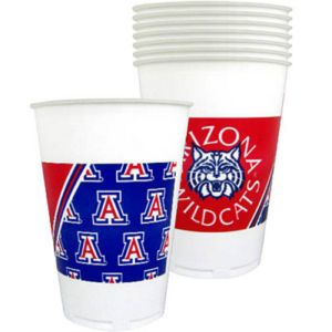 Arizona Wildcats Plastic Cups 8ct