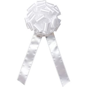 White Satin Wire Edge Bow