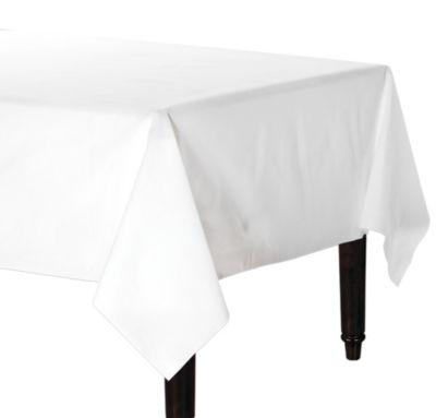 Linen-Like Premium White Table Cover