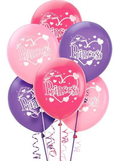 Princess Balloons 6ct