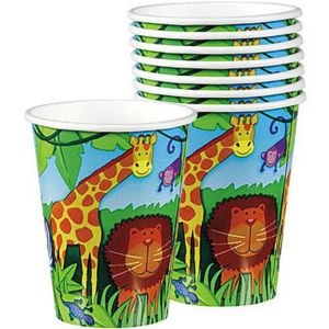 Jungle Animals Cups 8ct