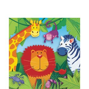 Jungle Animals Lunch Napkins 16ct