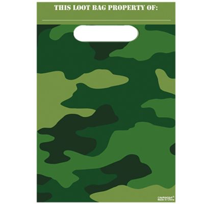 Camouflage Favor Bags 8ct