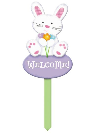 Wooden Bunny Lawn Sign