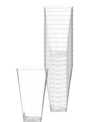 CLEAR Premium Plastic Square Cups 14ct