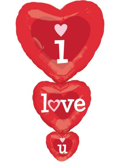 Foil Stacker I Love You Valentines Day Balloon