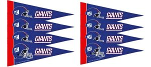 New York Giants Pennants 8ct