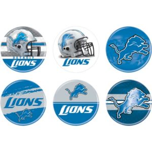 Detroit Lions Buttons 6ct