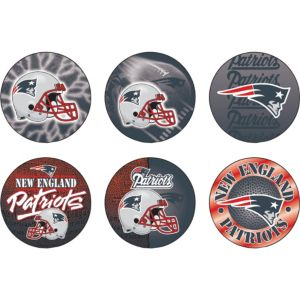 New England Patriots Buttons 6ct