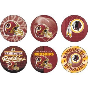 Washington Redskins Buttons 6ct