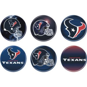 Houston Texans Buttons 6ct