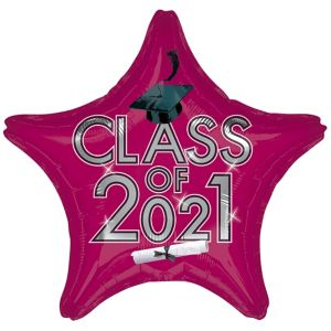 Star Class of 2016 Berry Graduation Balloon