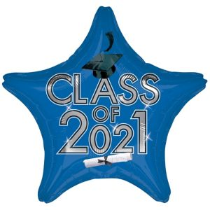 Royal Blue Graduation Balloon - Star Class of 2016