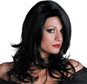Sultry Premium Shoulder-Length Midnight Black Wig