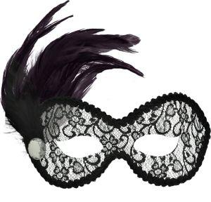 Black Lace Ballroom Masquerade Mask