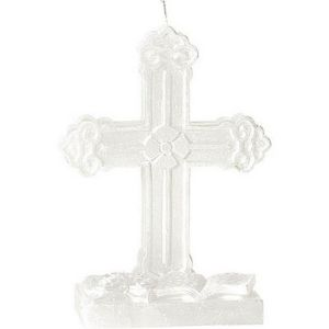 White Cross Mold Candle