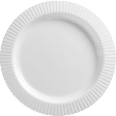 White Premium Plastic Dinner Plates 16ct