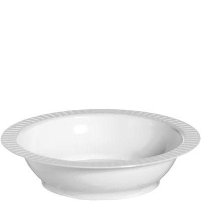 White Premium Plastic Soup Bowls 24ct
