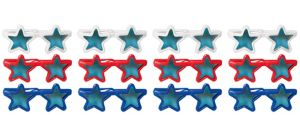Child Patriotic Red, White & Blue Star Sunglasses 12ct