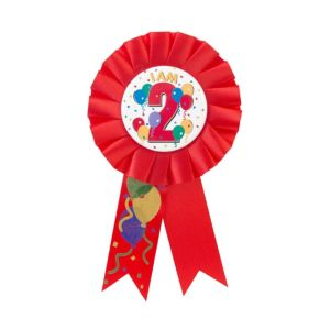 I Am 2 Birthday Award Ribbon
