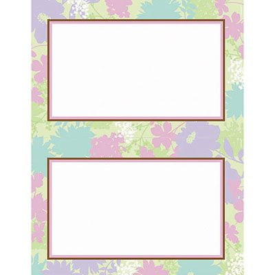 Floral Celebration Printable Invitations 24ct