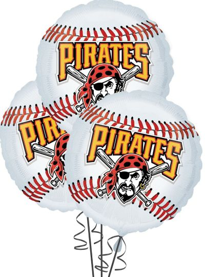 Pittsburgh Pirates Balloons 18in 3ct