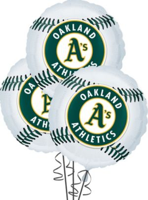 Oakland Athletics Balloons 3ct - Baseball