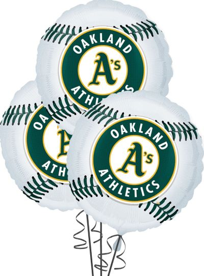 Oakland Athletics Balloons 18in 3ct