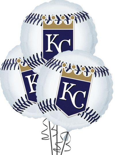 Kansas City Royals Balloons 18in 3ct