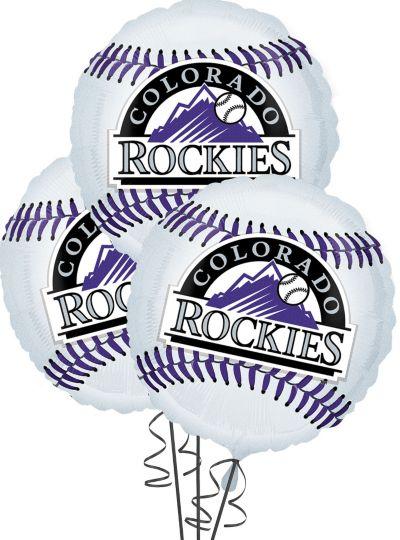 Colorado Rockies Balloons 18in 3ct