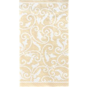 Vanilla Ornamental Scroll Guest Towels 16ct