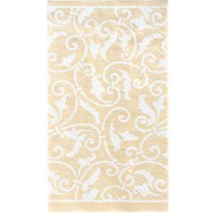 Vanilla Ornamental Scroll Guest Towels 16ct