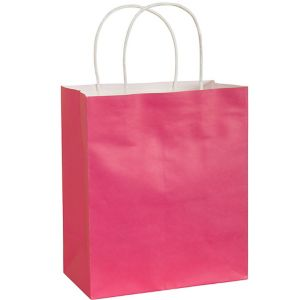 Large Bright Pink Kraft Gift Bag
