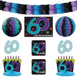 The Party Continues 60th Birthday Room Decorating Kit 10pc